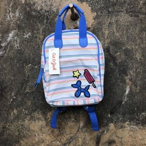 Cat & Jack balloon animal girls striped backpack